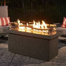 outdoor greatroom fire table linear fire pit table monumental the outdoor greatroom company