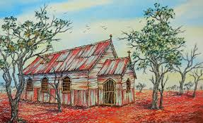 Painting Of House by Australian Homestead Paintings Tracts4free