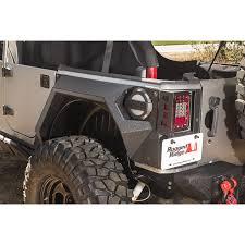 rugged ridge 11615 02 xhd rear armor fenders pair 4 dr 07