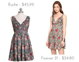 über chic for cheap look for less ruche high tea elegnace floral