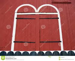 Red Barn Doors by Doors Of Old Red Barn In Kutztown Berks County Pa Stock Photo