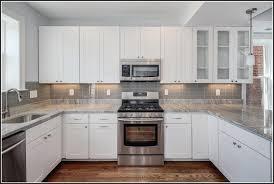 Backsplash For Black Cabinets - white subway tile backsplash with white cabinets tiles home