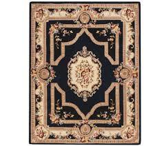 royal palace french savonnerie 7 u0027 x 9 u0027 wool rug page 1 u2014 qvc com