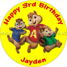 alvin and the chipmunks cake toppers alvin and the chipmunks personalised cake topper
