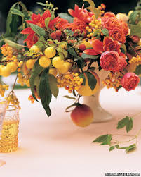 flowers fruit centerpieces with fruit and flowers martha stewart weddings
