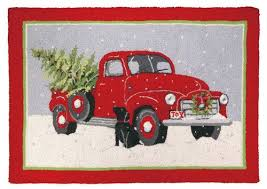 christmas rugs red truck mary lake thompson culturedliving com