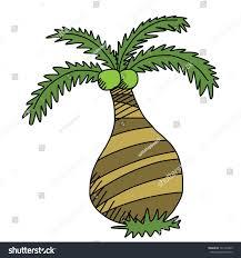 coconut tree cartoon drawing stock vector 141297865 shutterstock