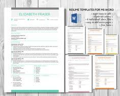 frame 2 in 1 word resume template by inkpower on creative market