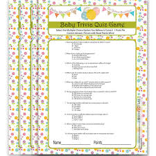 baby shower quiz game baby shower host