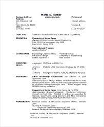Sample Engineer Resume by Sample Resume 24 Documents In Pdf Word