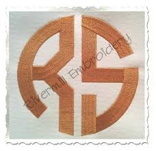 Letter Monogram 2 Letter Monogram Machine Embroidery Font 6 Inch Size Only