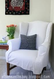 Large Chair And Ottoman Design Ideas Ottomans Slipcover Chair Ottoman White And Denim Slipcover Chair