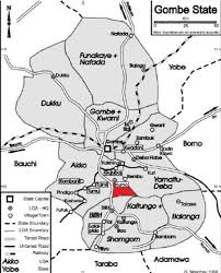 Nigeria State Map by Map Of Gombe State Showing The Study Area