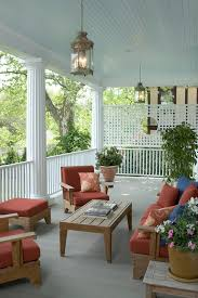 lattice decor porch traditional with porch lanterns stone outdoor