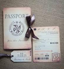 Boarding Pass Wedding Invitation Card Vintage Passport U0026 Boarding Pass Destination Wedding Invitation