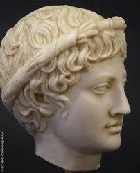 head of bacchus dionysus height 25cm sale of greek statues