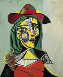 Dora Maar In An Armchair Woman In Hat And Fur Collar 1937 By Pablo Picasso