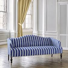 indigo leather sofa majal sofa in vintage stripe indigo
