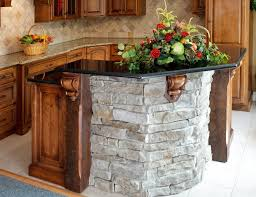 small kitchen island made of stone and granite countertop idea