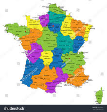 Calais France Map by Colorful France Political Map Clearly Labeled Stock Vector