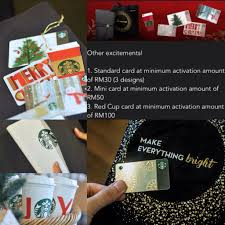 starbucks christmas gift cards how to get starbucks planner christmas gift and card malaysia