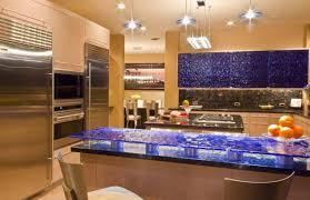 Artistic Kitchen Designs by Architecture Blue Froseted Glass Kitchen Island Artistic Kitchen