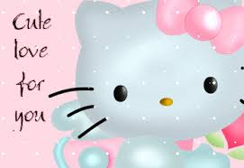 cute love kitty showing love graphics