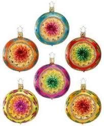 glitterville reflector finial ornaments set of 2