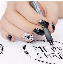Nail Art Meme - snowflake black white nail design nails pinterest black