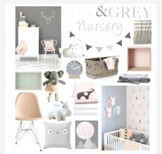 Pink And Grey Nursery Decor Baby Room Ideas Pink And Grey Bartarin Site