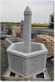 gartenbrunnen aus stein sechseckig you dekor
