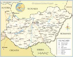 Map Of Virginia Cities Political Map Of Hungary Nations Online Project