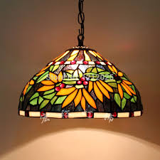 Stained Glass Light Fixtures Dining Room Wunderbar Stained Glass Kitchen Lighting Retro Hanging