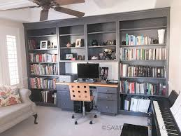 painting built in bookcases built in bookcase makeover don t be afraid to paint sawdust sisters