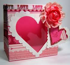 busy with the cricky valentine treat box with spellbinders