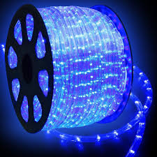 com wyzworks 150 feet blue led rope lights flexible 2 wire accent holiday party decoration lighting ul csa certified home