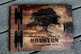 Engraved Wedding Albums Wedding Guest Book Rustic Family Tree Book Personalized