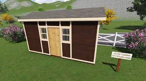 outdoor shed plans 8x18 tall garden shed plan for a prehung door