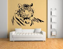 home interior tiger picture charming animal wall art with tiger laid down jungle animals
