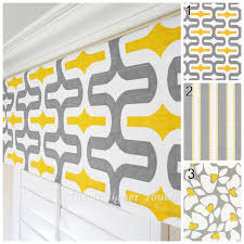 yellow grey valance panel yellow window treatment yellow