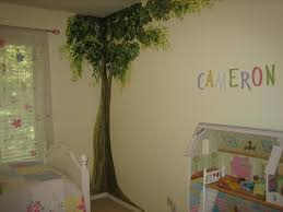 Adorable Wall Painting Design For Kids Bedroom With Soft Green - Paint design for bedroom