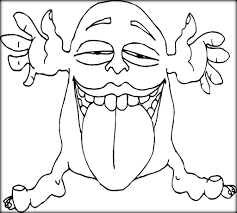 scary monster coloring pages for kindergarten color zini