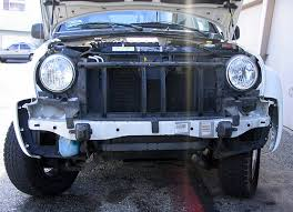 jeep liberty front bumper front hitch install kirk s web page