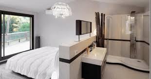 chambre avec salle de bain suite parentale avec salle de bain ouverte design photo décoration