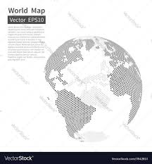 Free Vector World Map by Dotted World Map Background Earth Globe Royalty Free Vector