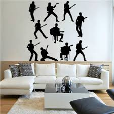 aliexpress com buy 10 person music band wall stickers for boys