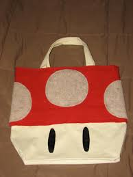 mario mushroom trick or treat bag i made for my son when he was
