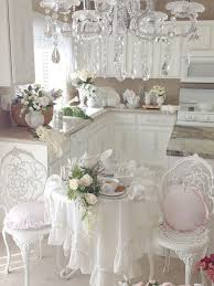 provence styled shabby chic kitchen in white cottage style ideas