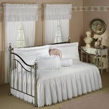 bedroom white metal daybed with pop up trundle frame best ideas