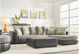 living room stafford gray 3 pc sectional living room clearance gray